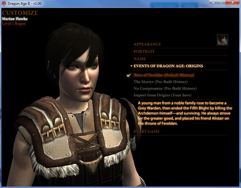 Dragon Age Origins Characters Creation From Dragon Age Origins