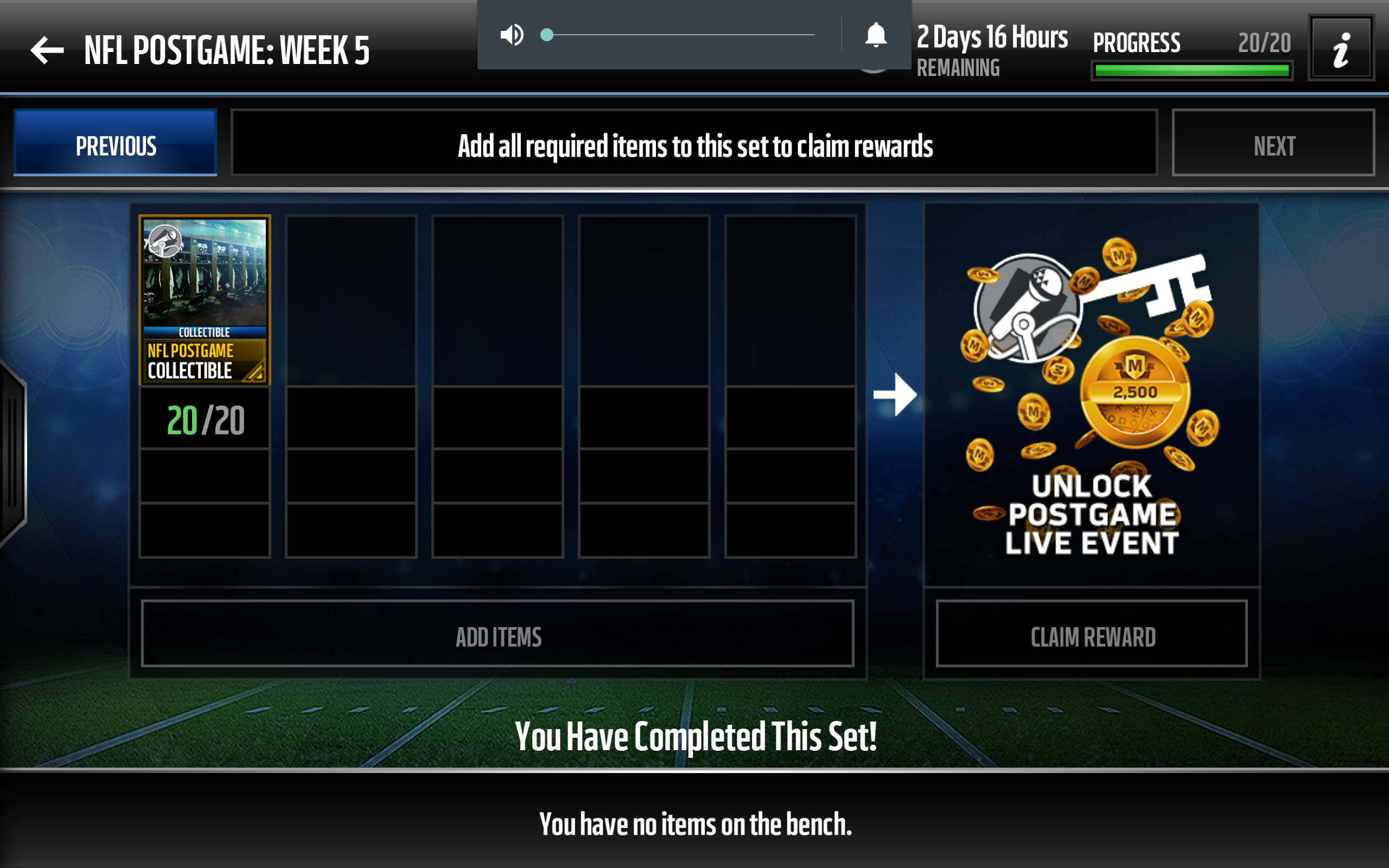 Solved: Postgame Set collectibles gone - Answer HQ