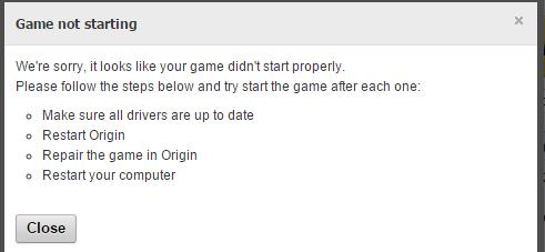Origin not launching and game lock background - Answer HQ