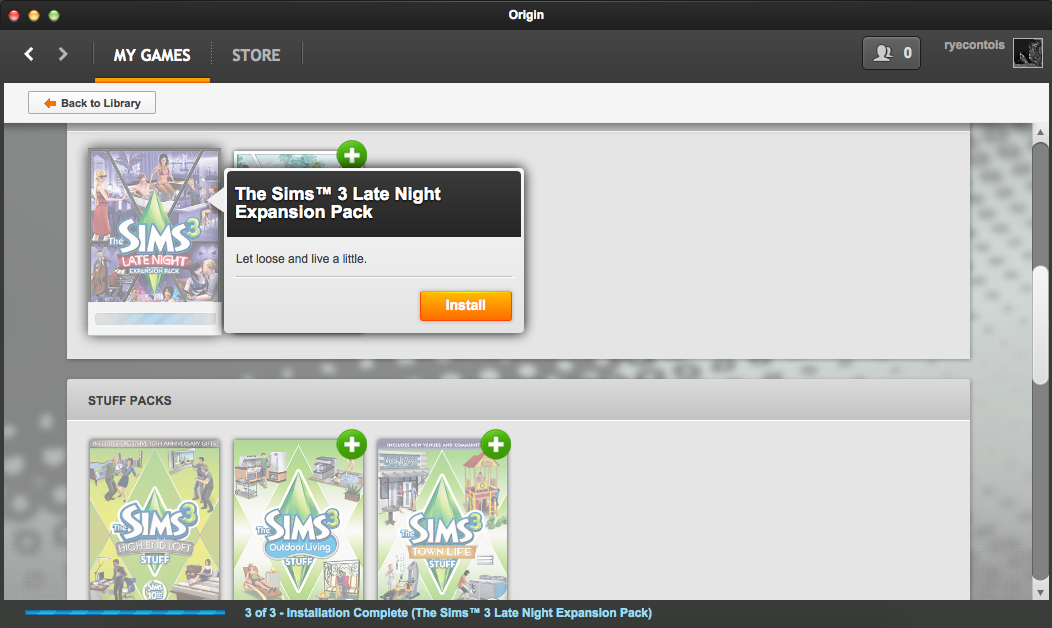 how to download sims 3 expansion packs on origin