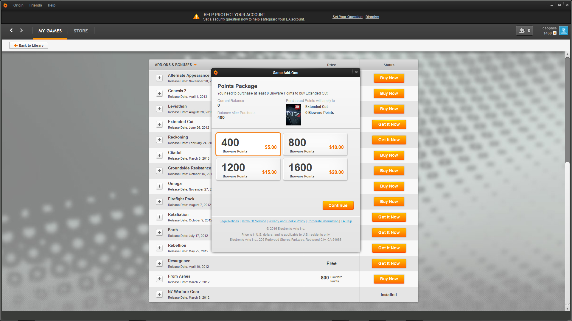 how to get bioware points for free