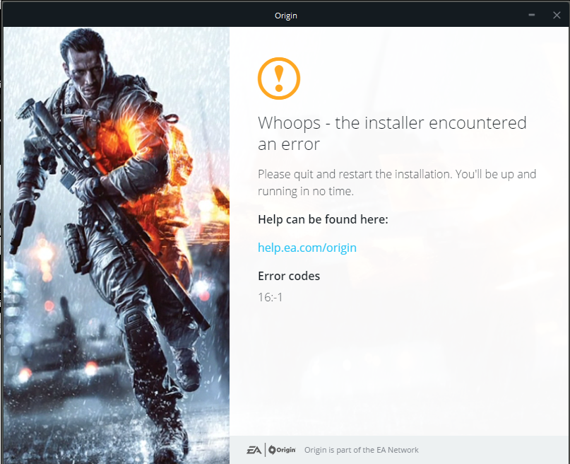 Can't Install Origin Client - Answer HQ