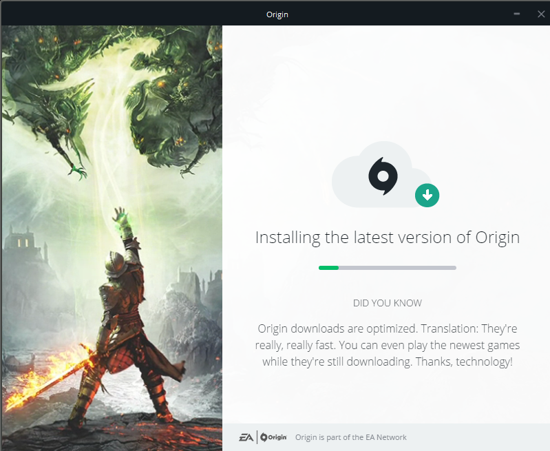 how to download faster on origin