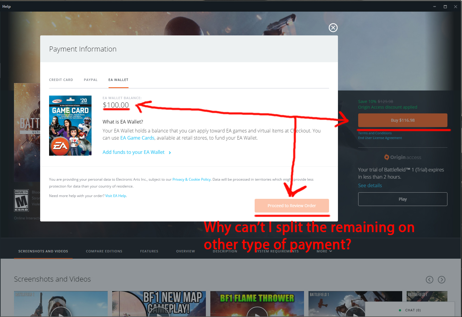 how to connect ea account to origin