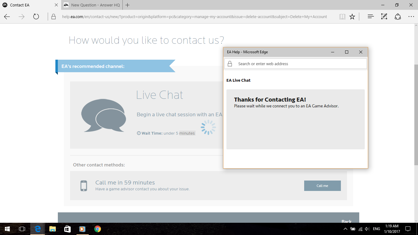 solved: ea live chat not working - answer hq