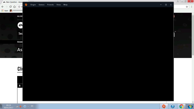 Origin black screen - Answer HQ