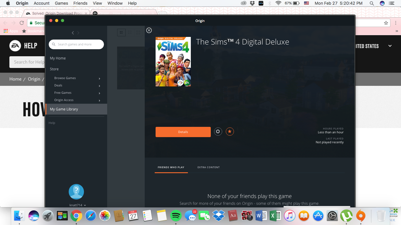 I cannot download the Sims 4 Game using the Origin App - Answer HQ