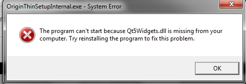 Re: Qt5Widgets.dll is missing - Answer HQ