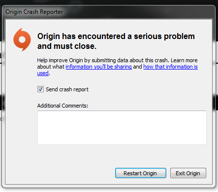 Origin crash every time I try to download - Answer HQ