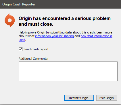 Solved: Origin Has Encountered a Serious Problem and Must Close