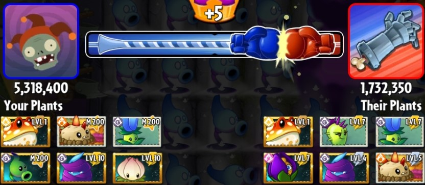 Boosterama Toadstool 5.318M Shadow Pea Power Lily  Primal Potato Mine Conceal mint PvZ2.jpg