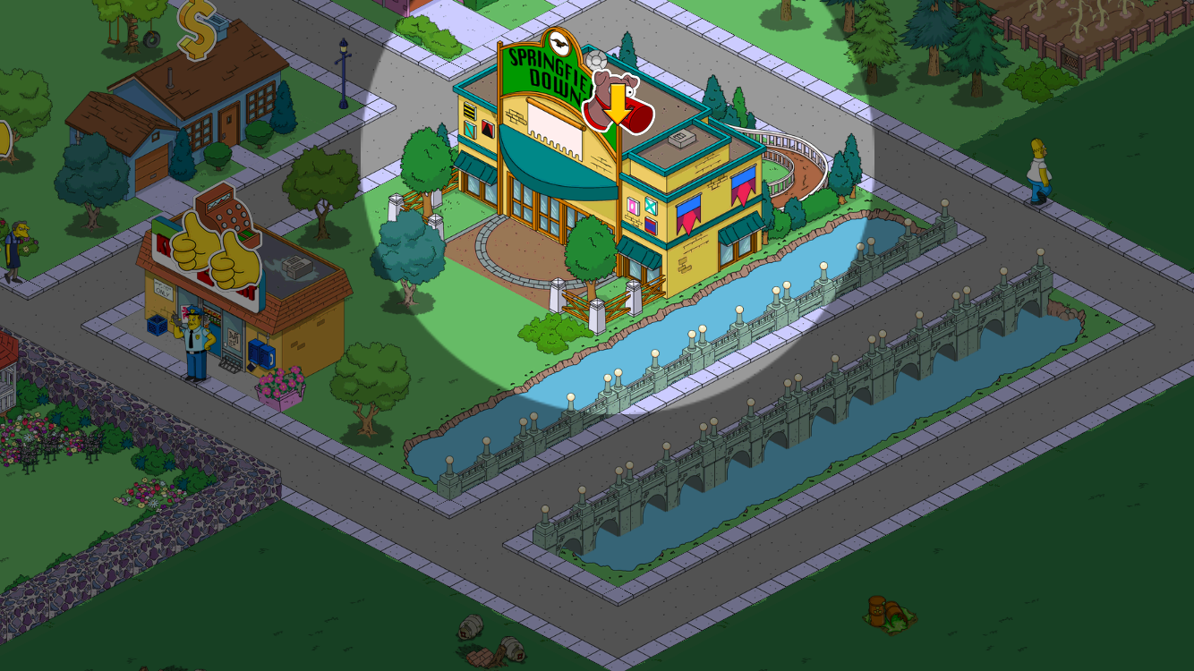 simpsons tapped out springfield downs betting