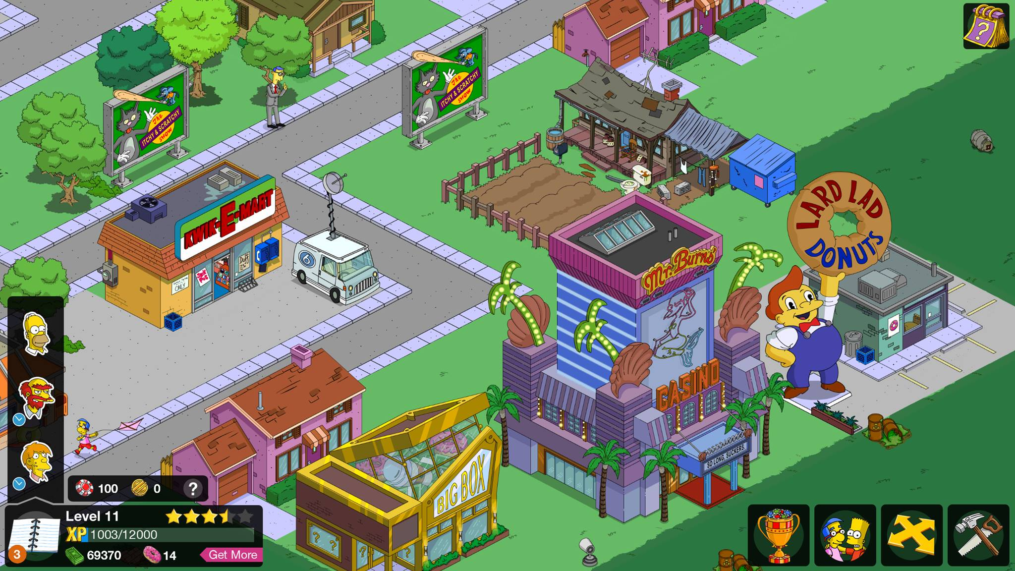 Springfield Casino Cheats