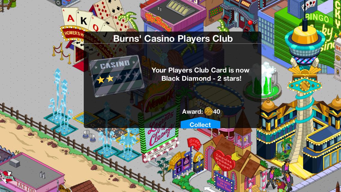 burns casino players club