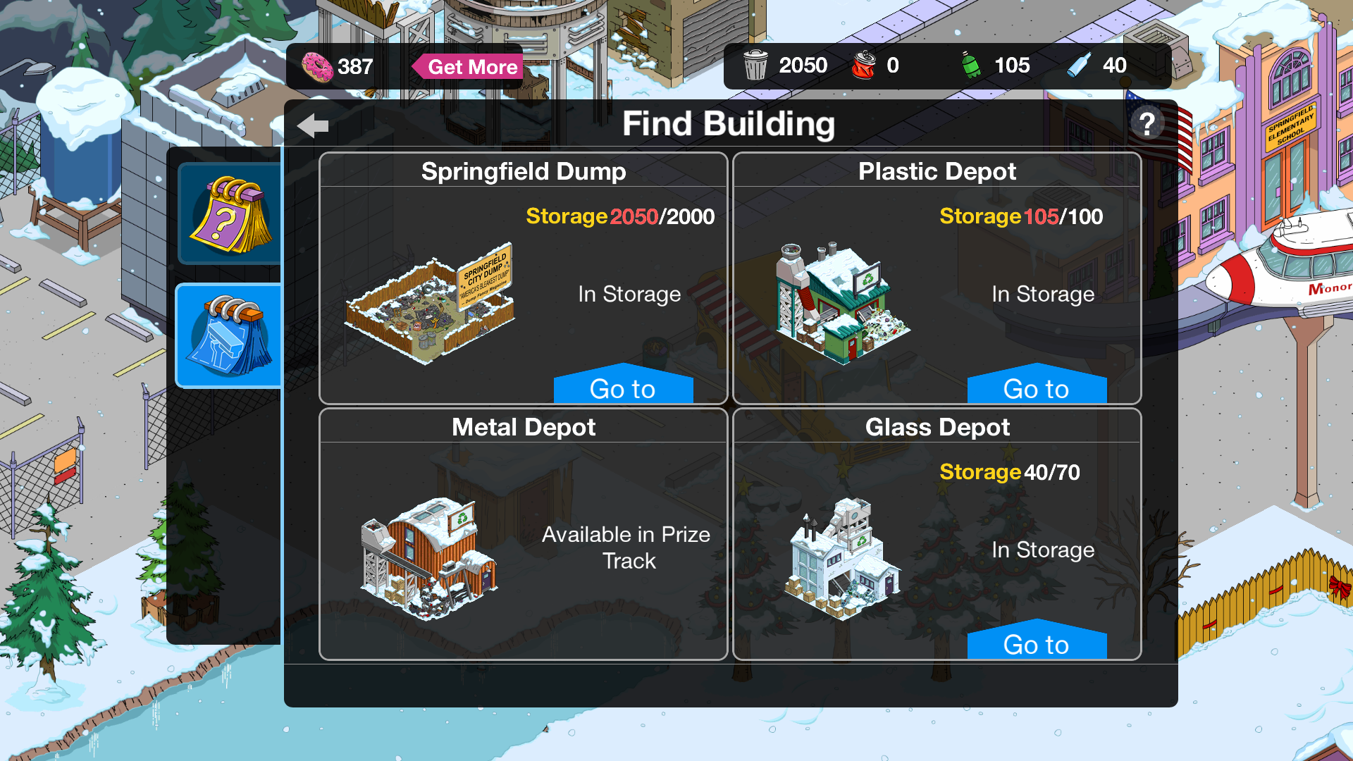 Missing buildings - Answer HQ