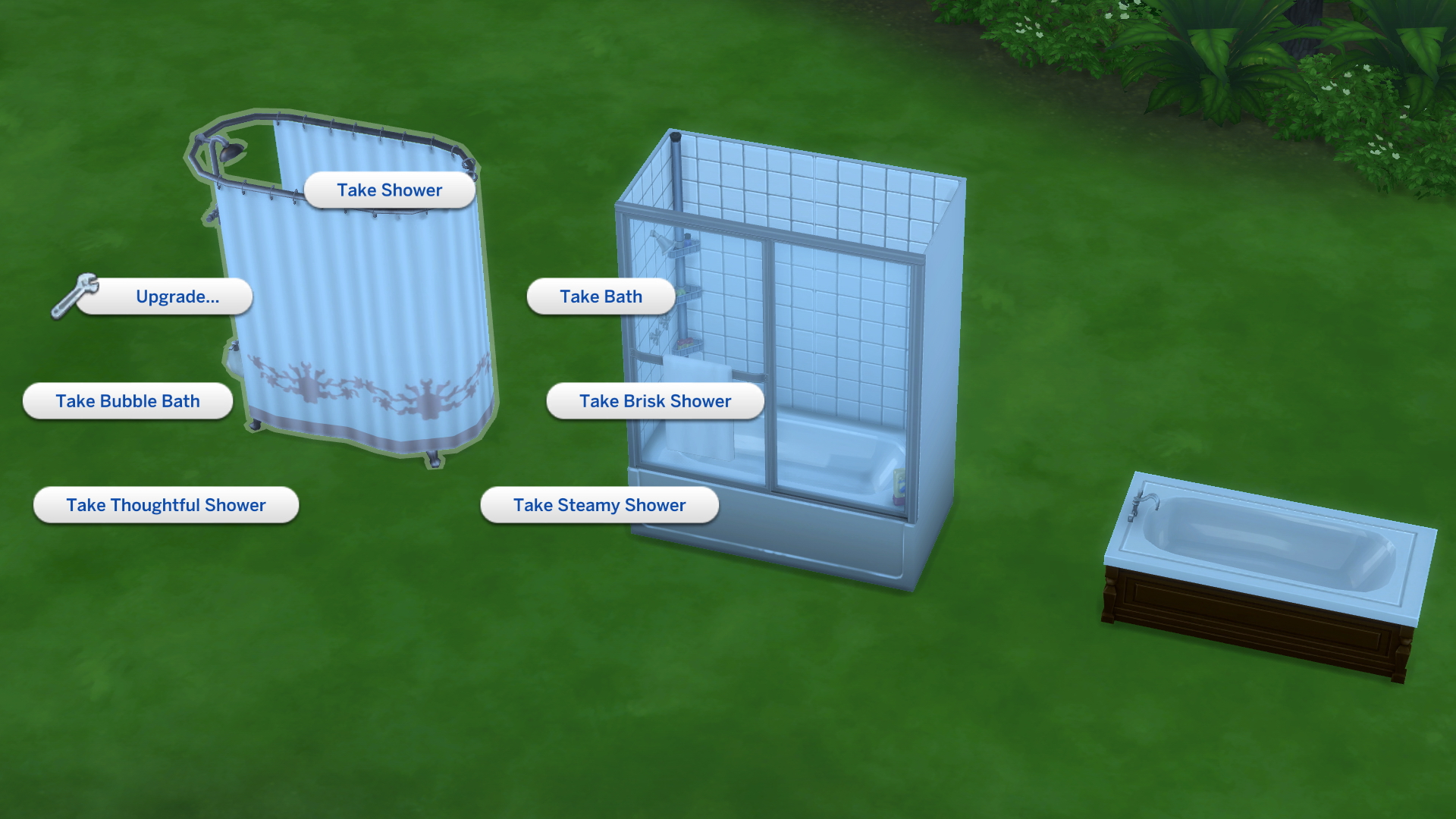 OPEN] [SD] Sims can\'t take a mud bath or soaks in a shower/bath tub ...