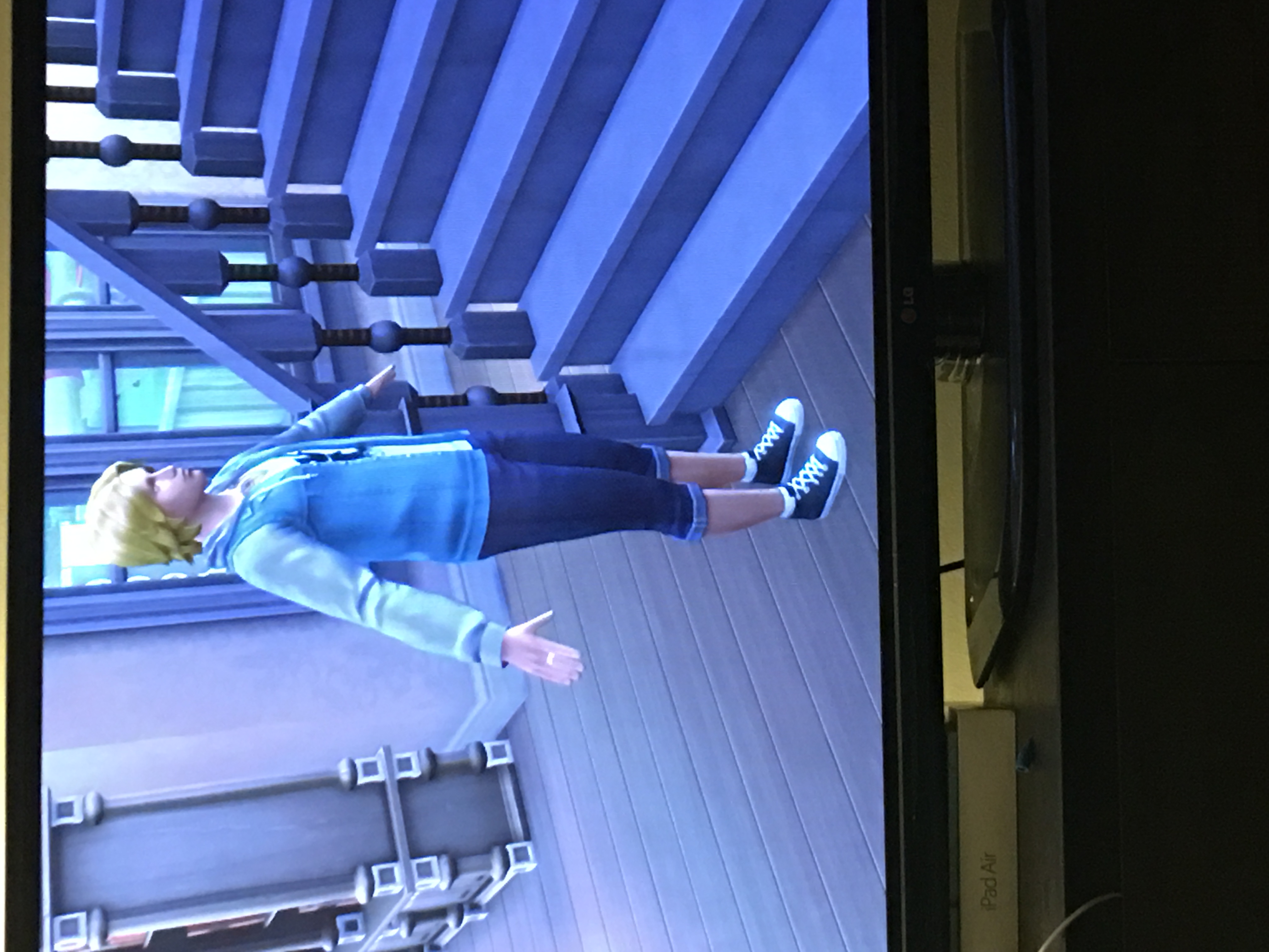 PS4] Sim stuck in T-pose at the bottom of the stairs - Answer HQ
