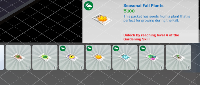 OPEN Rare seed can not be purchased in build mode (level ...