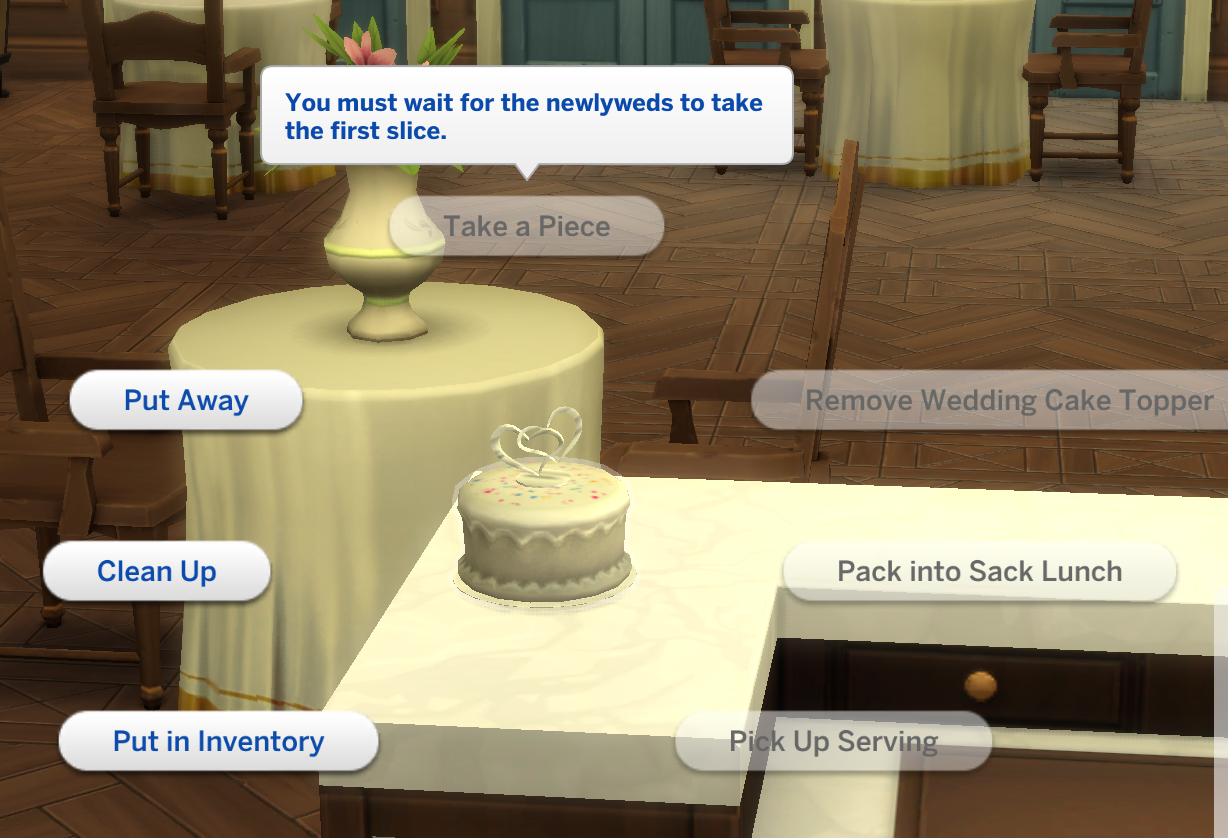 Sims 4 Wedding Cake.Solved Workaround Newlyweds Can T Cut First Slice Of Wedding Cake