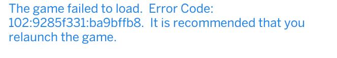 the sims 4 error code 102