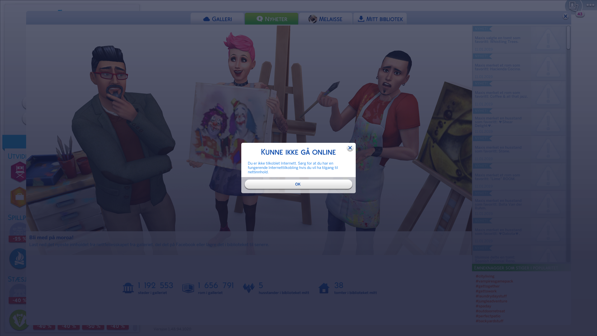 The sims 4: Gallery wont connect to the internet - Answer HQ