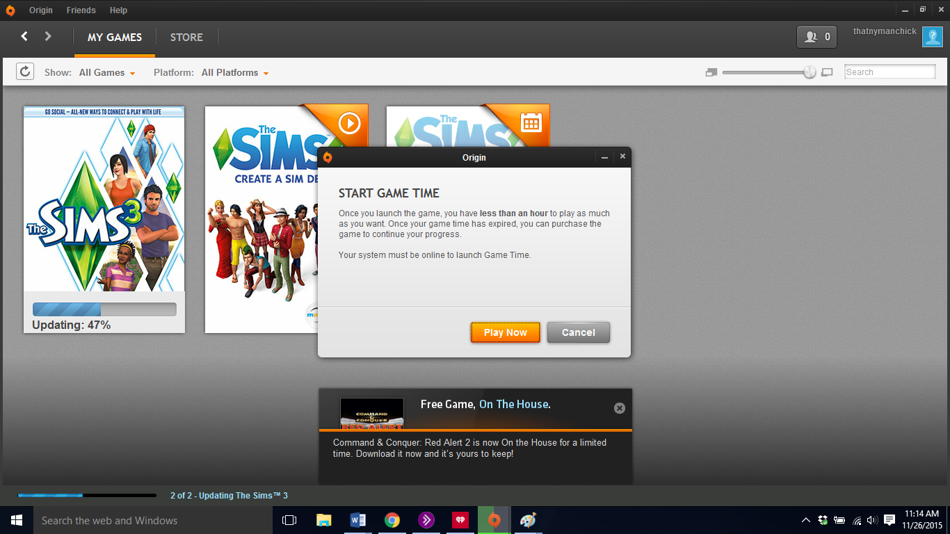 Will my laptop play sims 3?