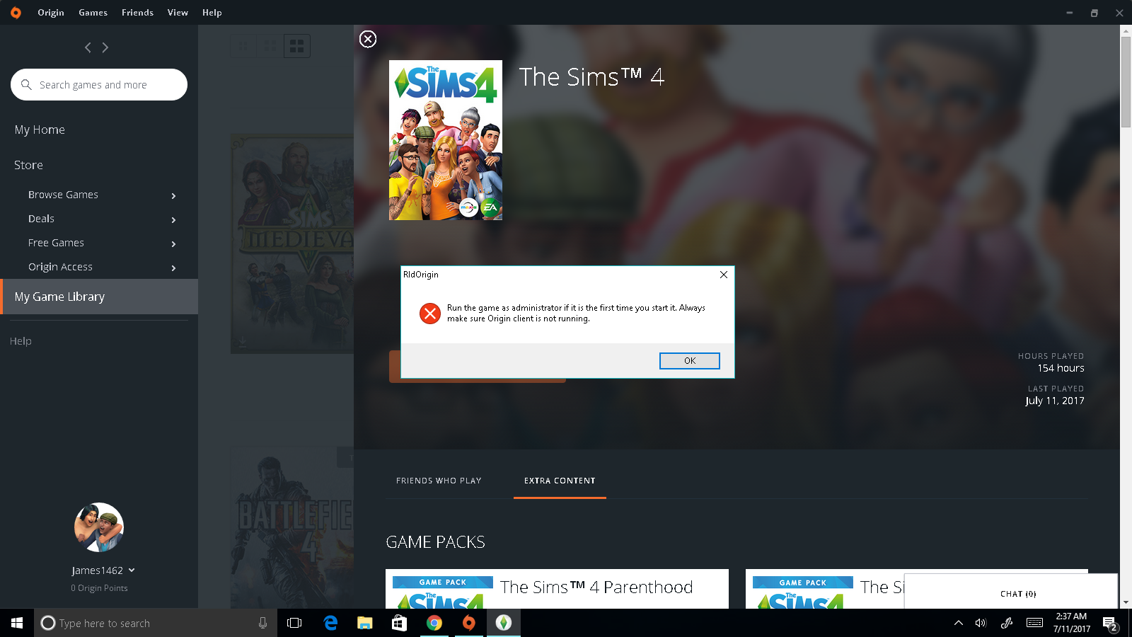 Sims 4 origin Error: Origin Client - Answer HQ