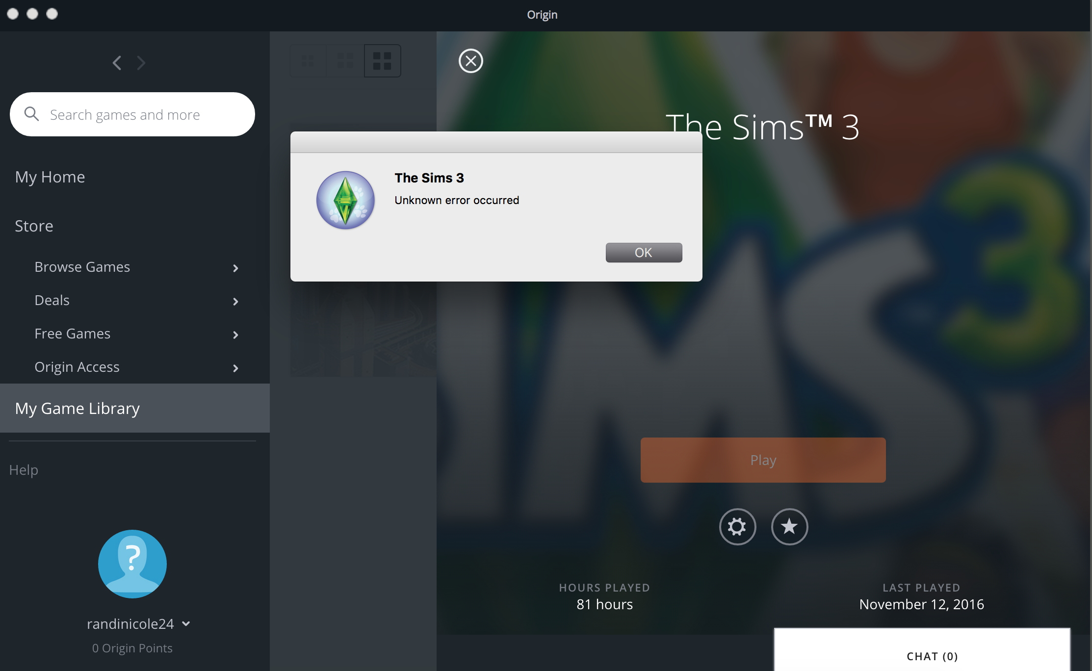 sims 3 won't launch from origin (mac) - Answer HQ
