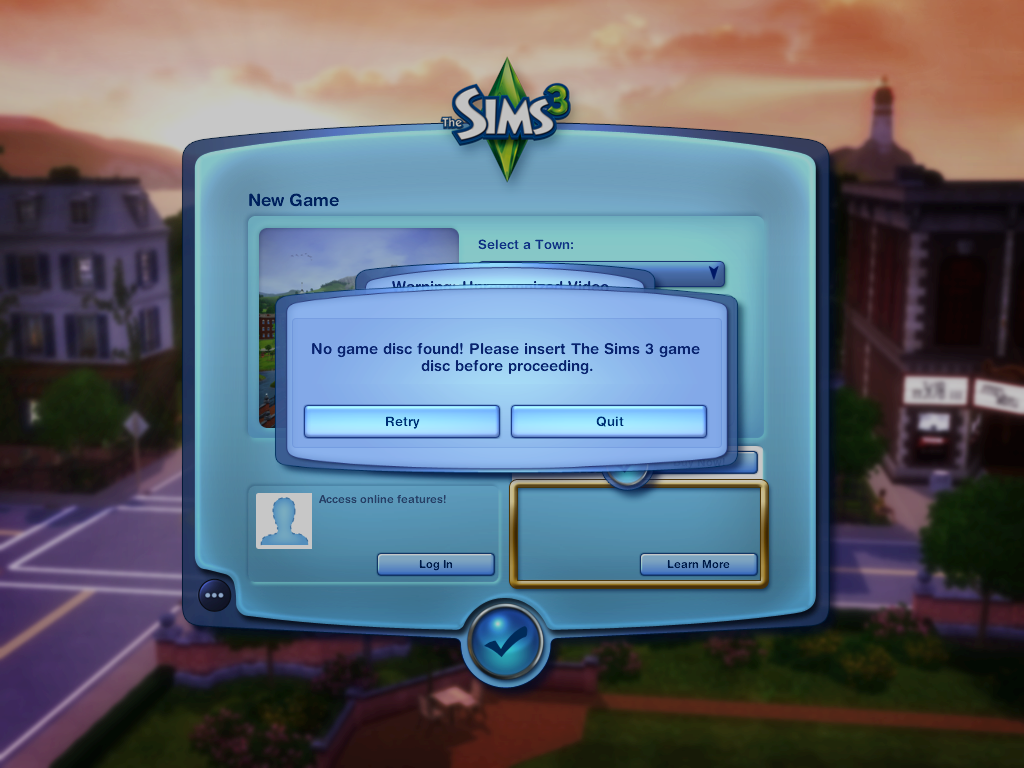 The Sims 3: No game disc found (MAC) - Answer HQ