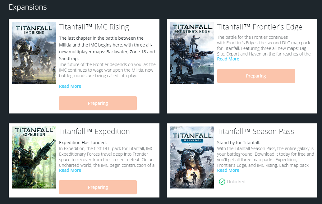 Titanfall: Unable to Download Extra Content [ Season Pass ] - Answer HQ