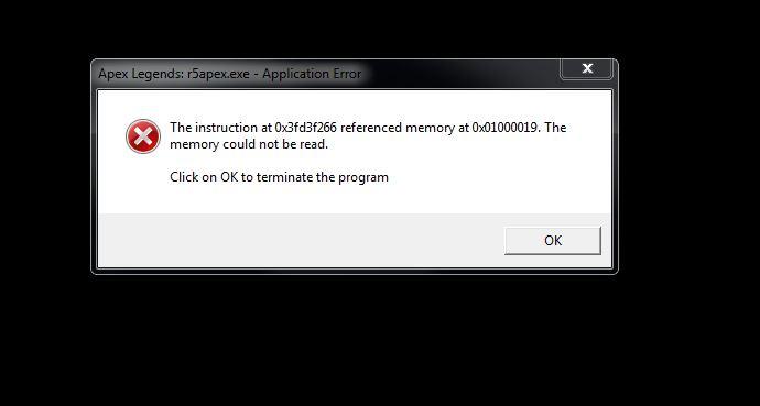 Apex Legends memory crash - Answer HQ