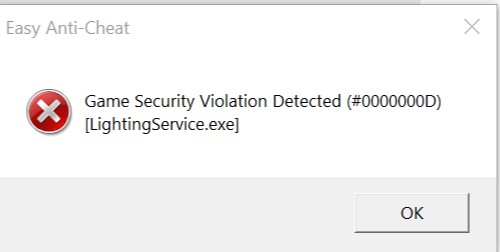 Bei Gamestart:Game security violation detected (#0000000D