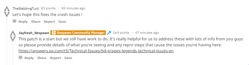 Apex Legends crashing without error or with referenced