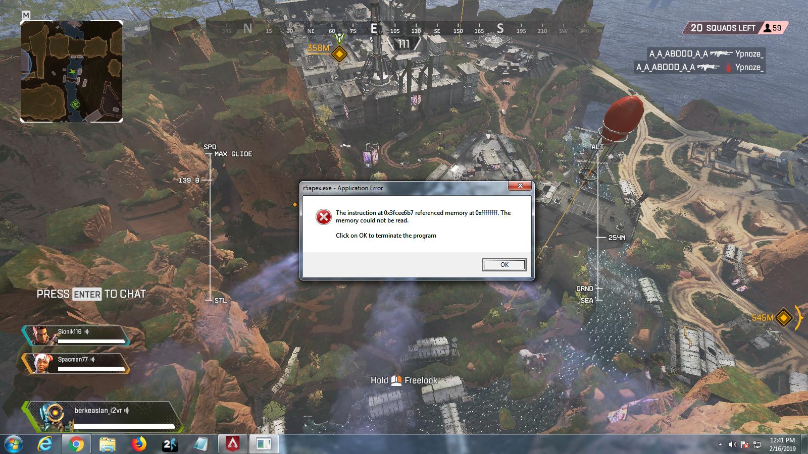 Apex Legends Crashing Randomly In Game Windows 7 Answer Hq