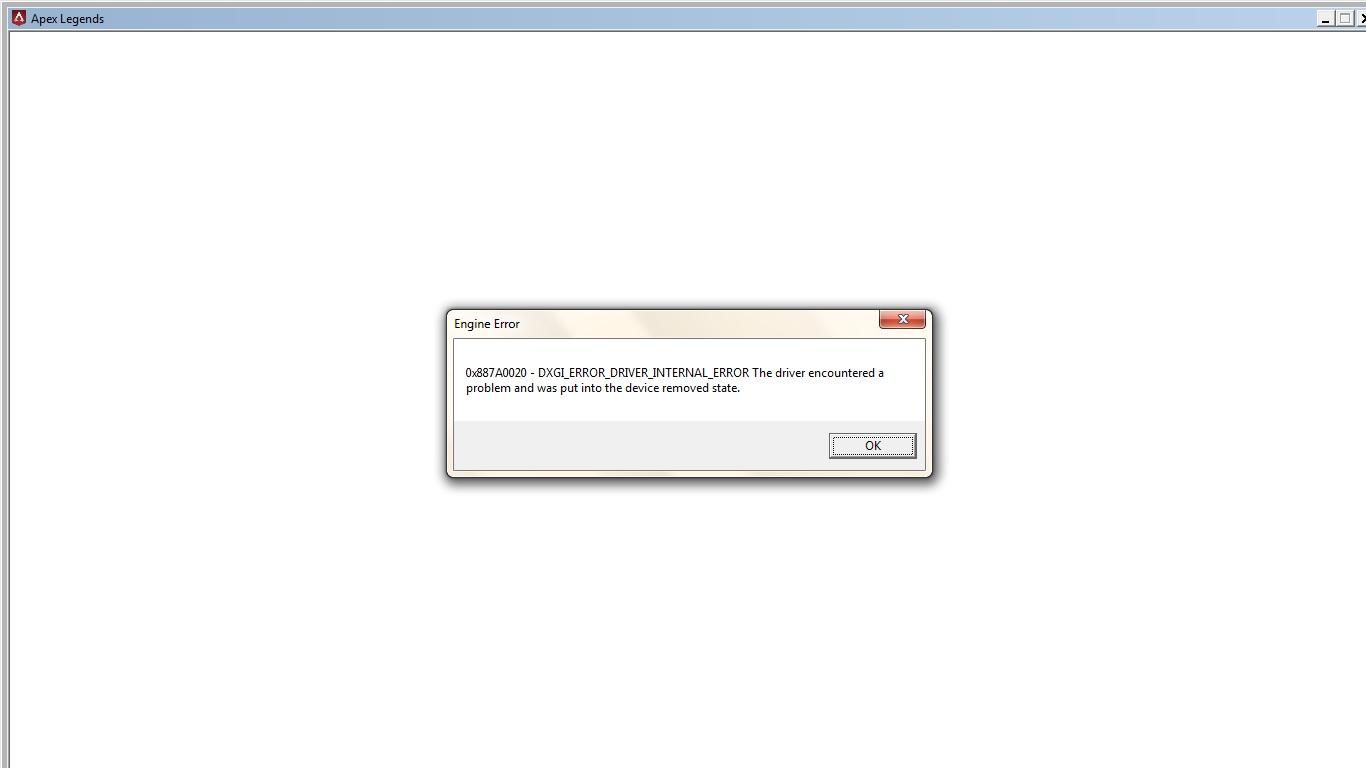Error! dxgi_error_driver_internal_error - Answer HQ