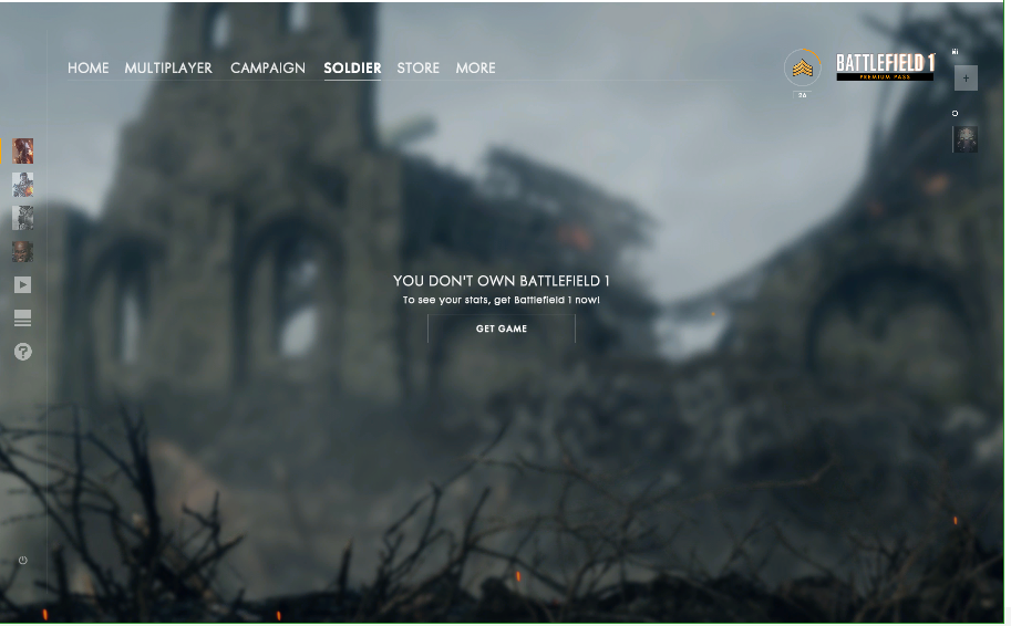 Solved: Battlefield 1 told me I don't have the game to look into my