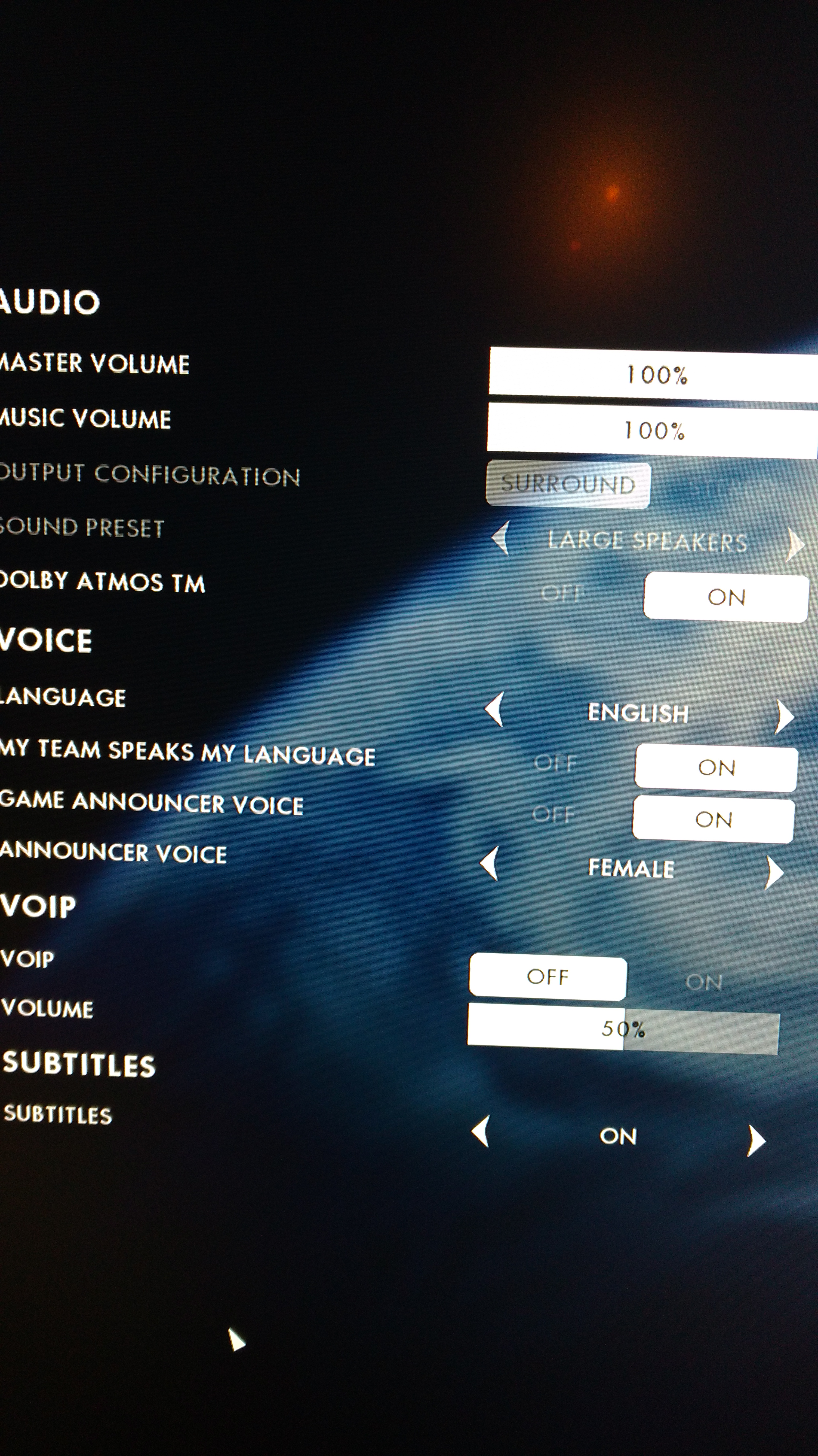 Solved: Re: Dolby Atmos does not work in BF1 - Answer HQ