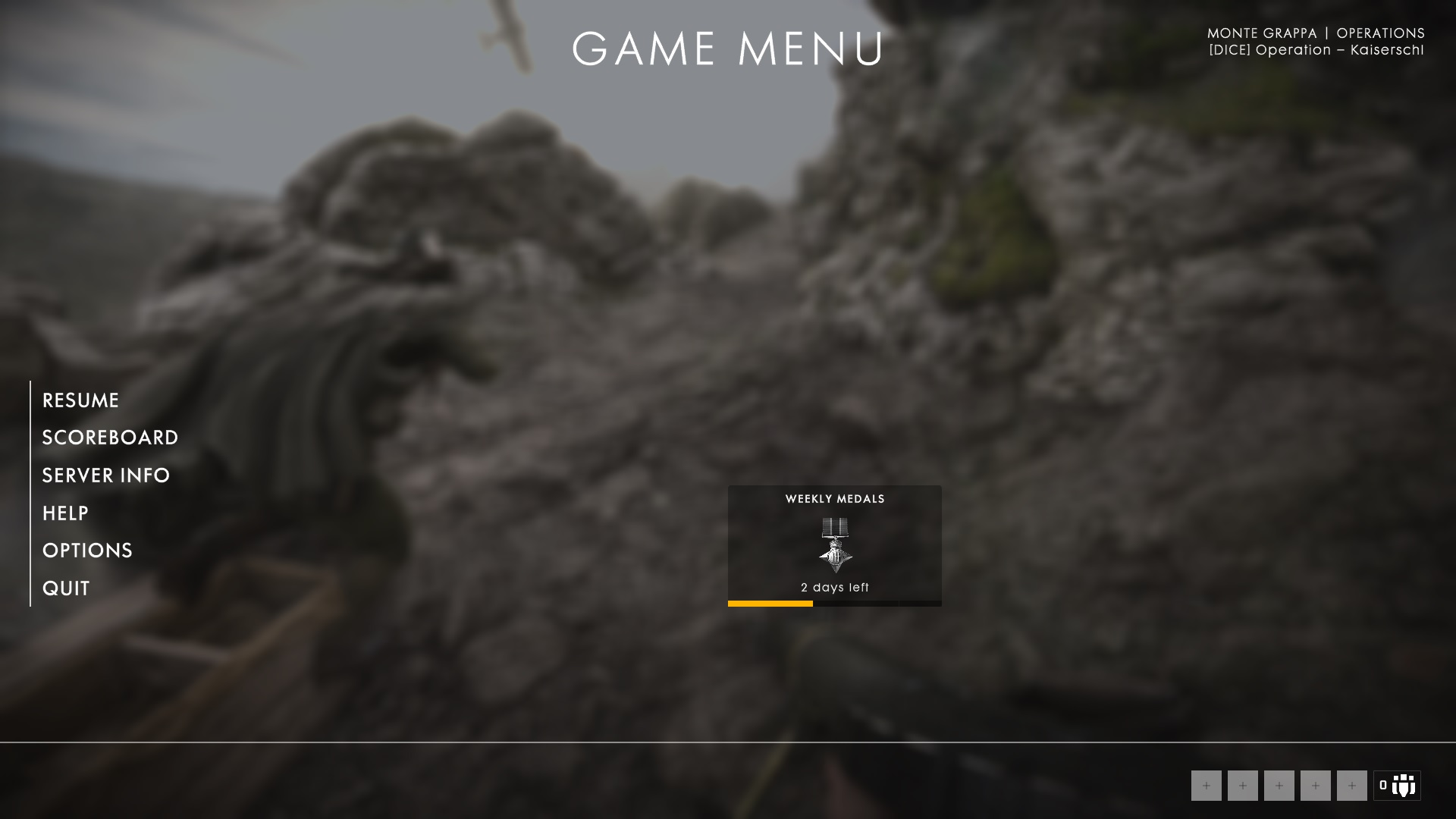 Re: BF1 - DEPLOY SCREEN BUG - Answer HQ
