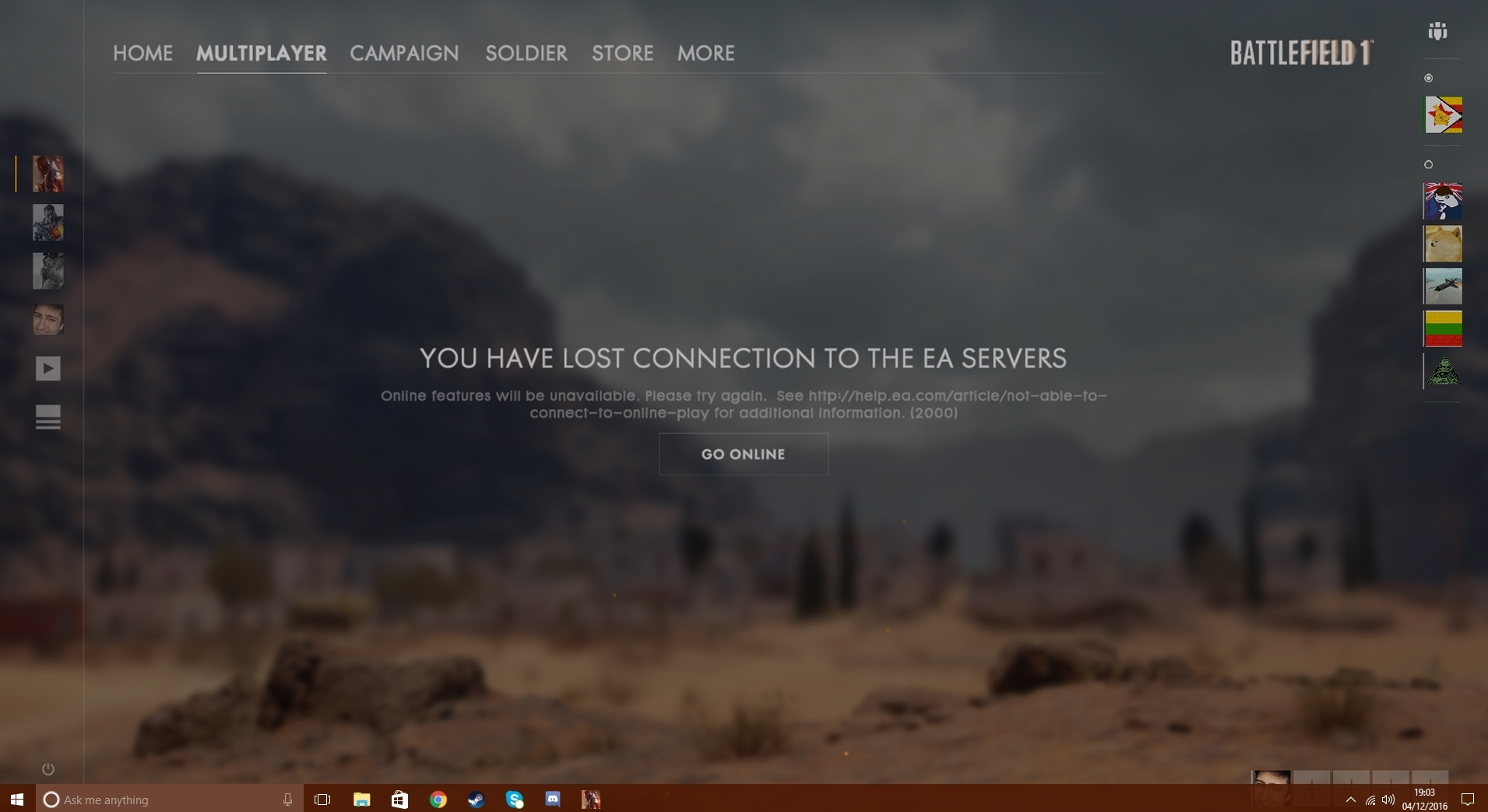 Solved: (PC) 'You have lost connection to the EA servers