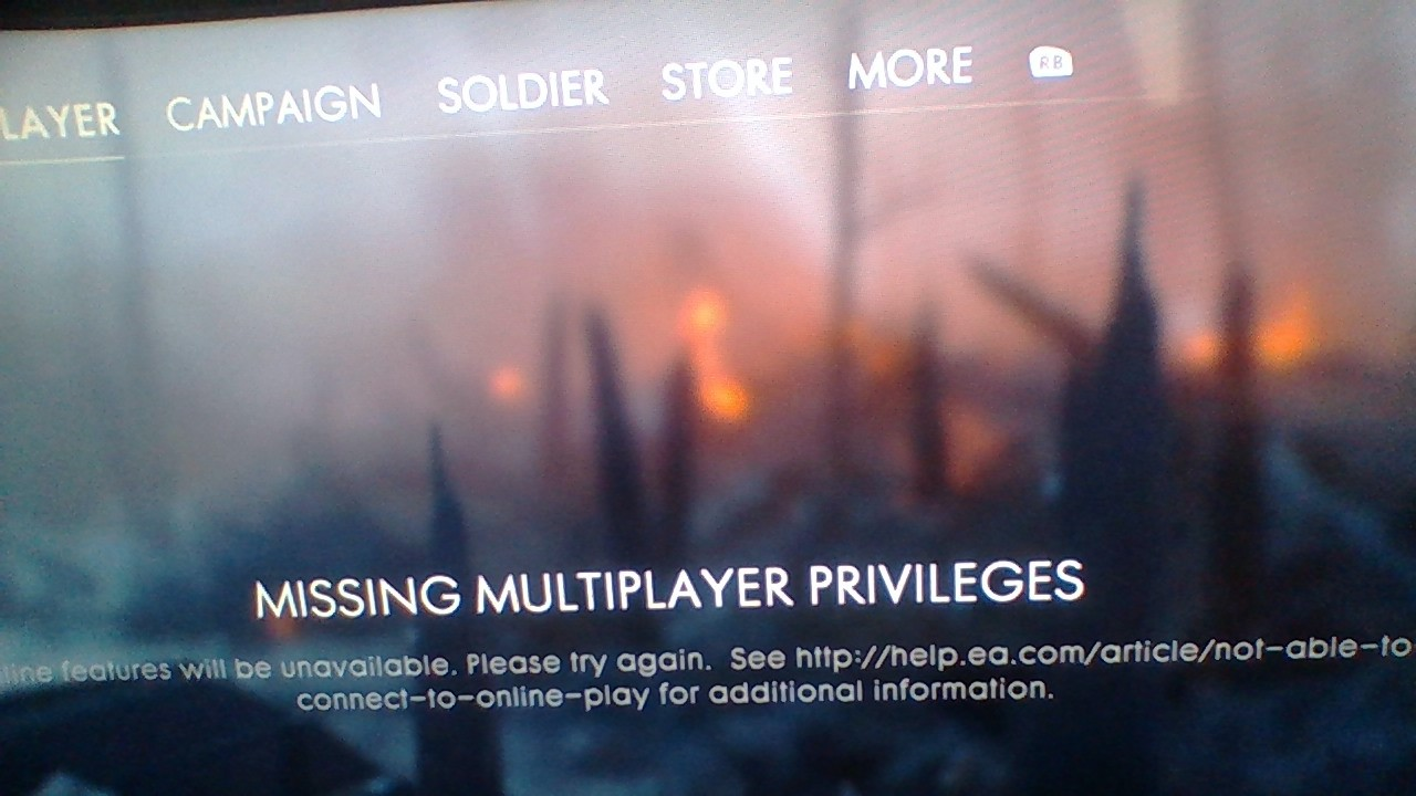 how to fix missing multiplayer privileges battlefield 1