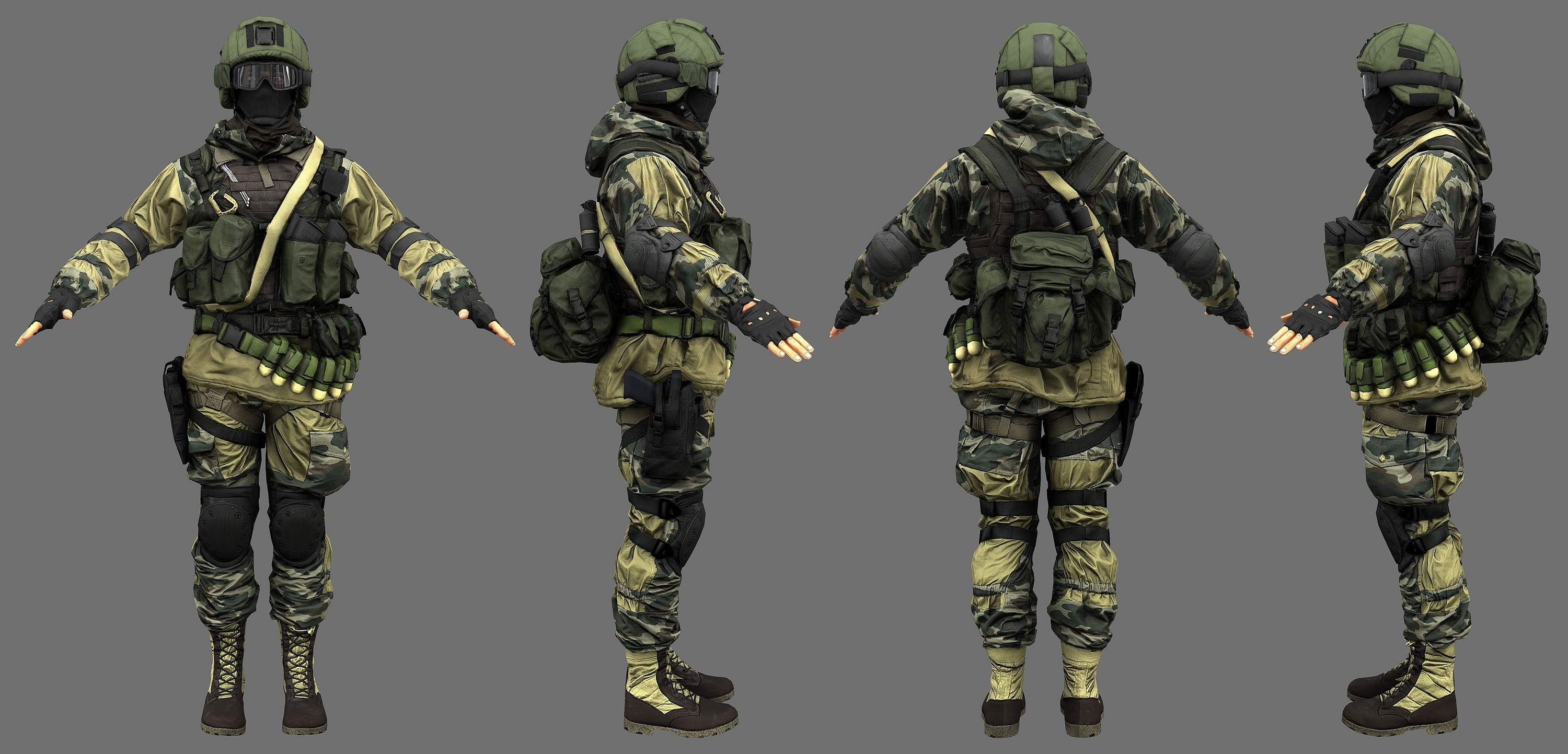 What is the russian assault class character 39 s model gear for Gear company of america