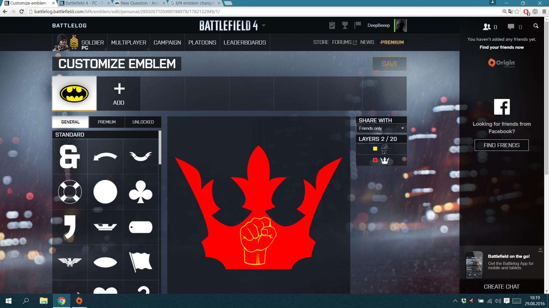 BF4 emblem changing itself - Answer HQ
