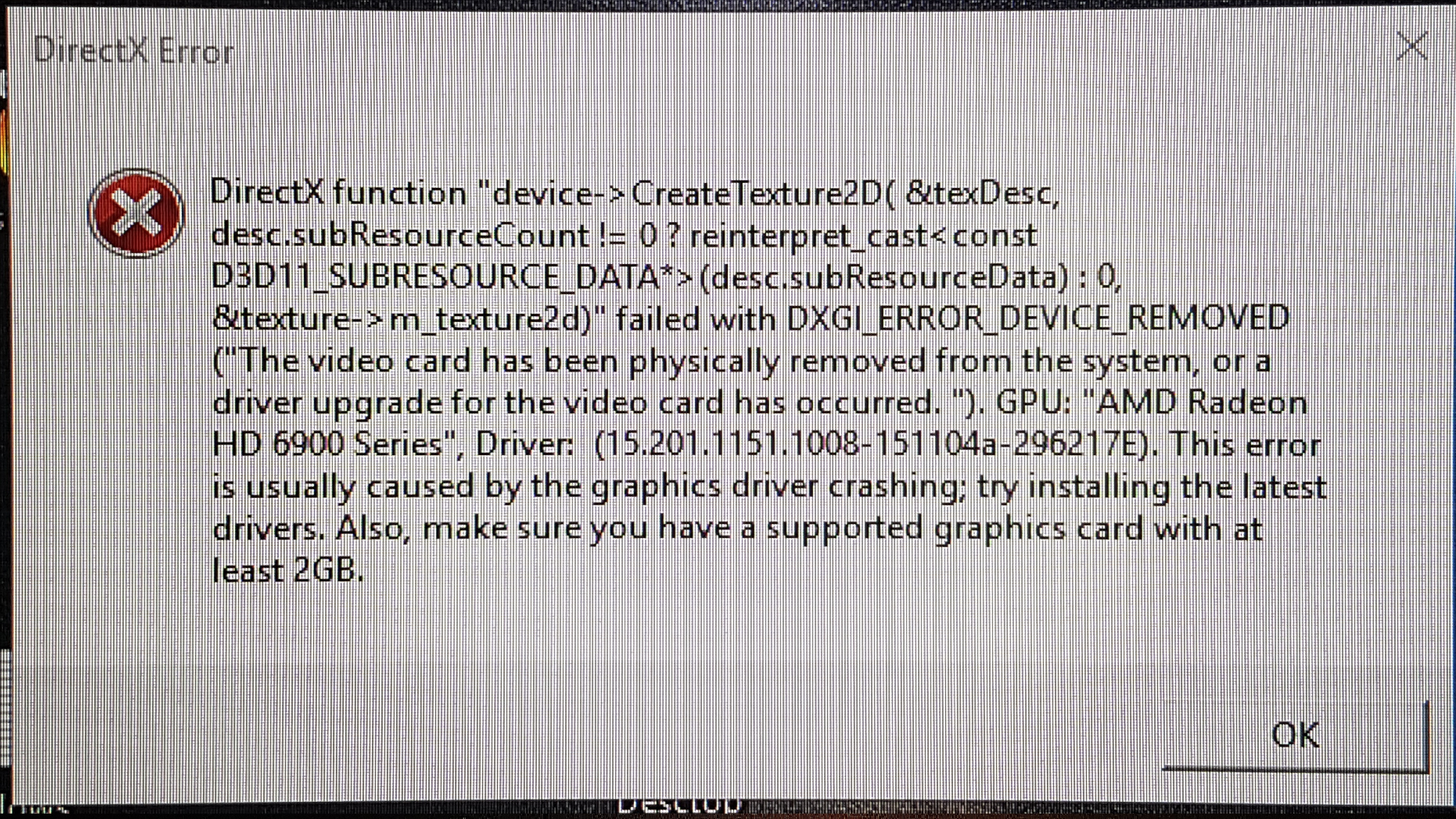 Solved: DirectX function device CreateTexture2D