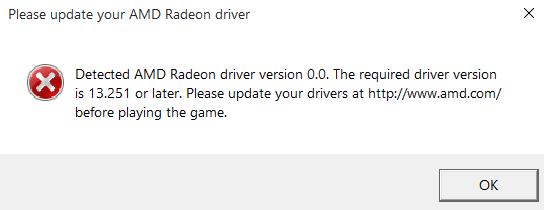Solved: (PC) BATTLEFRONT WONT START - AMD DRIVER DETECTION