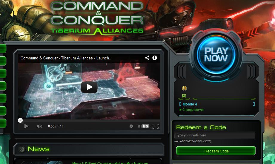 command conquer tiberium alliances бонус коды