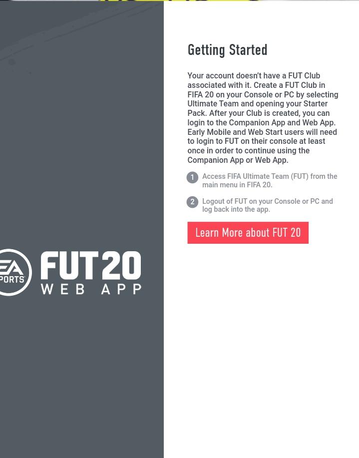 Fifa 20 webb app