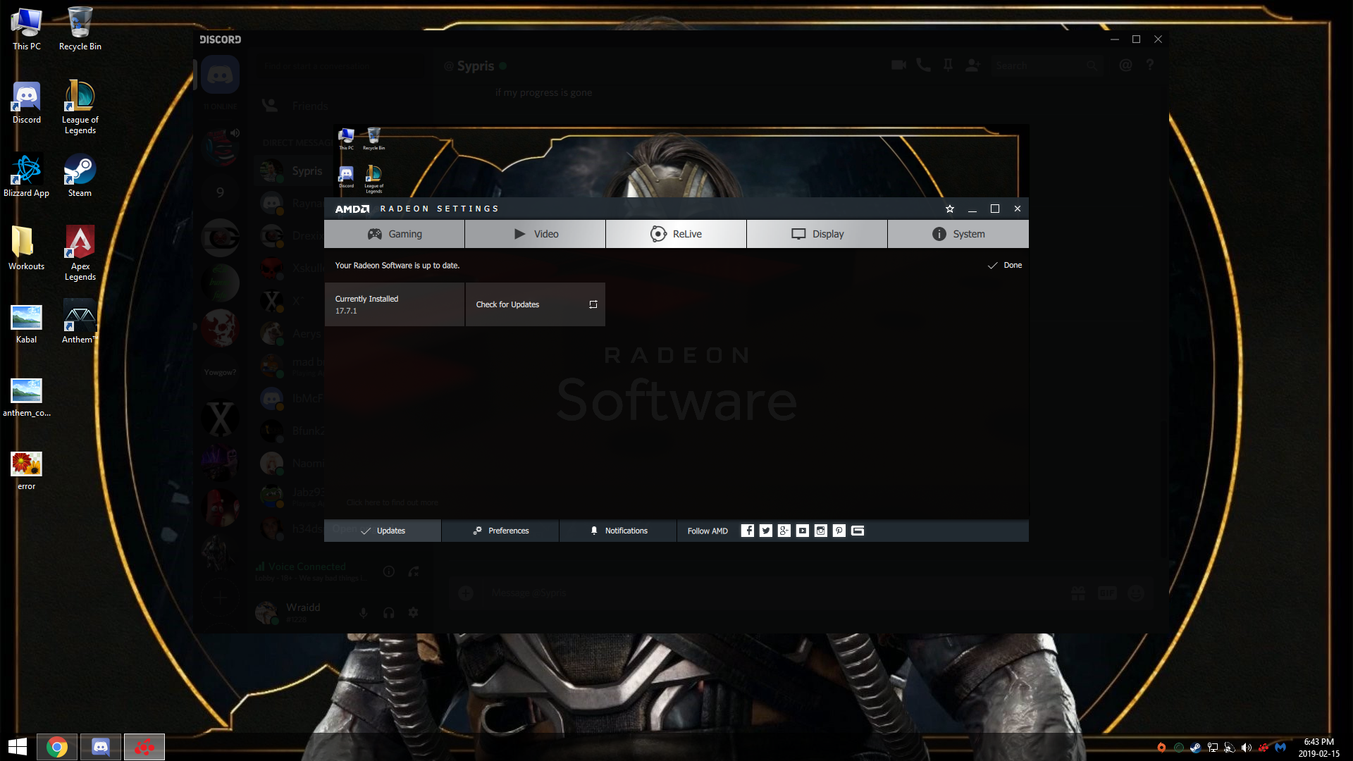 Anthem wont boot says update video driver - Answer HQ