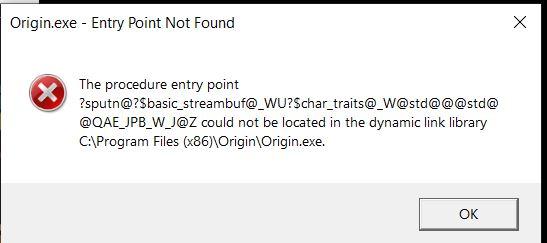 Origin not running error message - Answer HQ