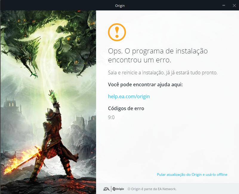 Solved: Origin Update or Install - Error 9:0 - Answer HQ
