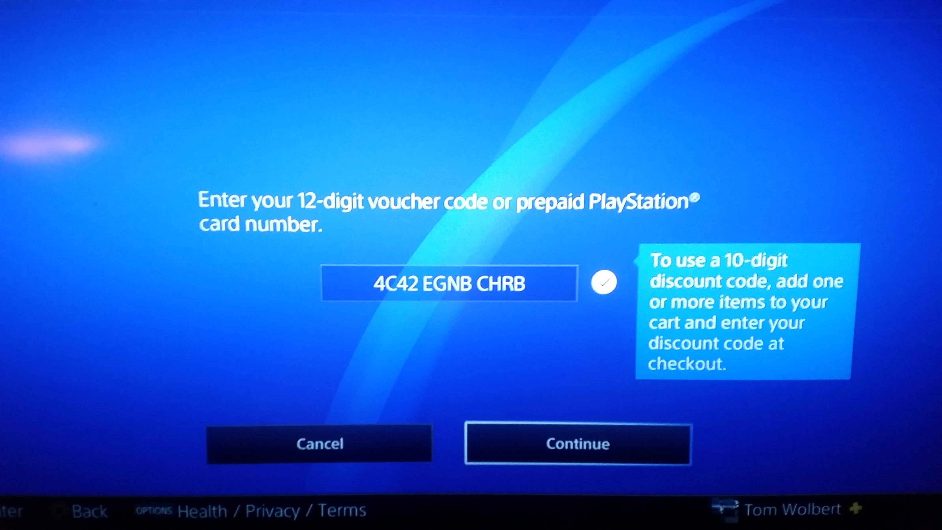 ps4 codes not ing